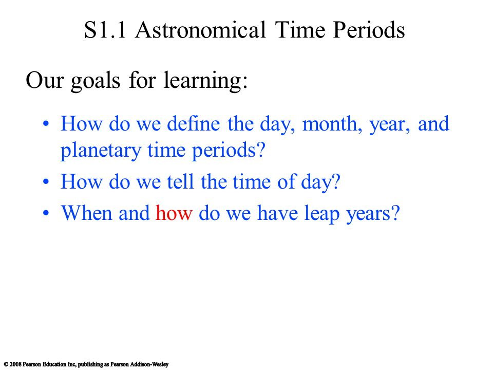 S1.1 Astronomical Time Periods