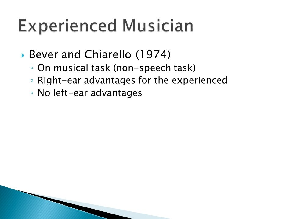 Experienced Musician Bever and Chiarello (1974)