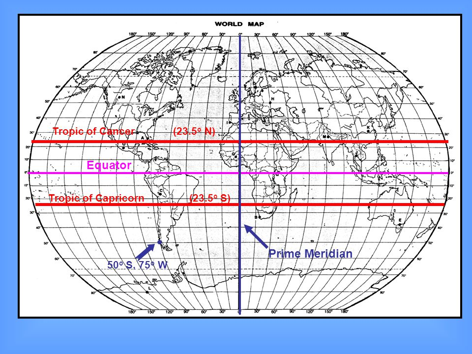 Latitude the equator is the reference line ppt video online download 24 equator prime meridian gumiabroncs Gallery