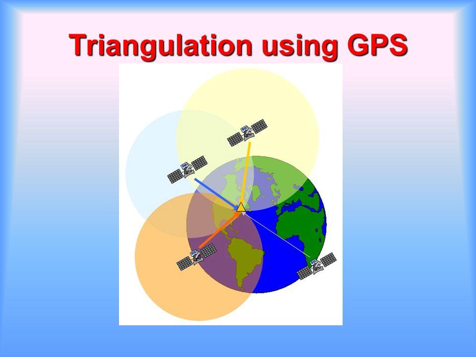 Triangulation using GPS