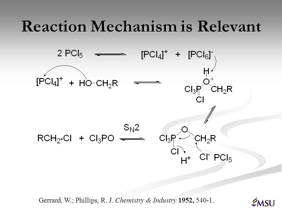 Reaction Mechanism is Relevant
