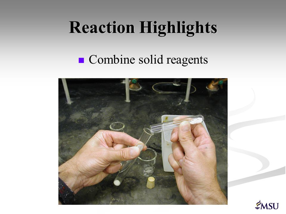 Combine solid reagents