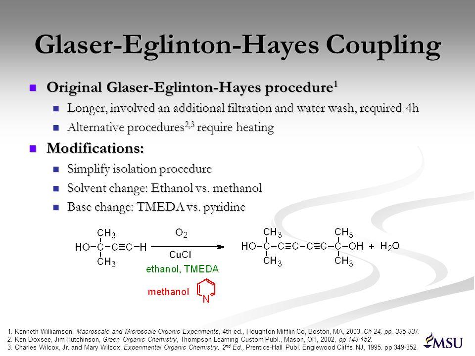Glaser-Eglinton-Hayes Coupling