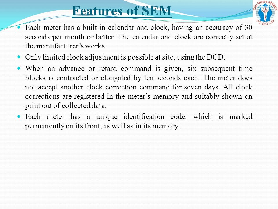 Features of SEM