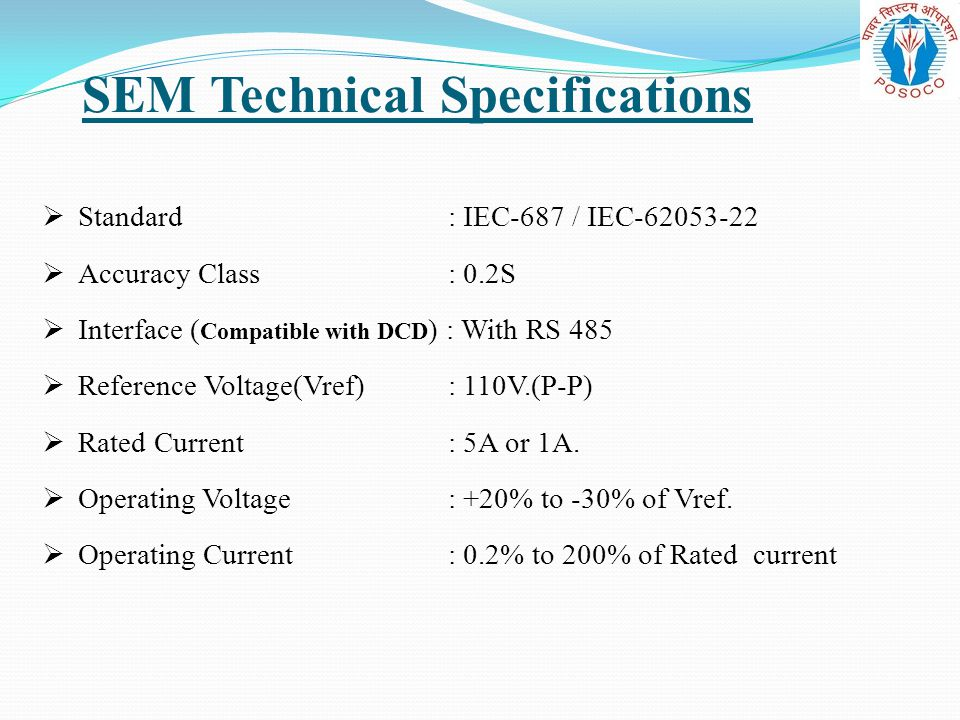 SEM Technical Specifications