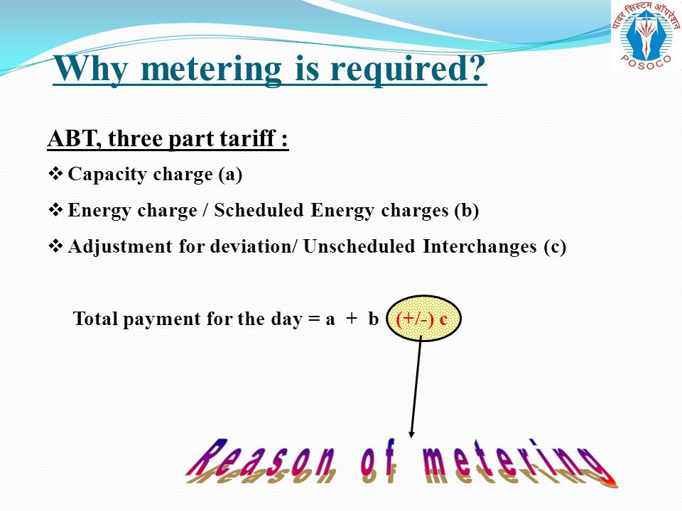 Why metering is required
