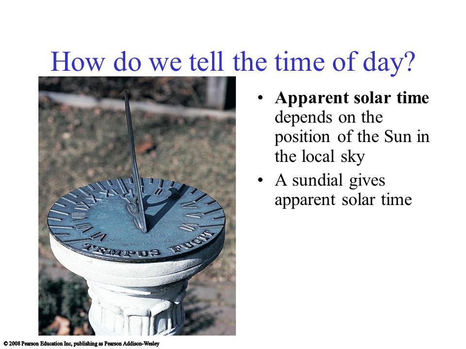 How do we tell the time of day