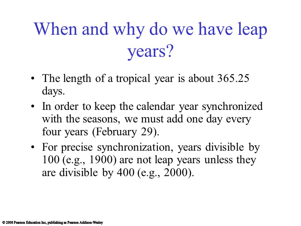 When and why do we have leap years