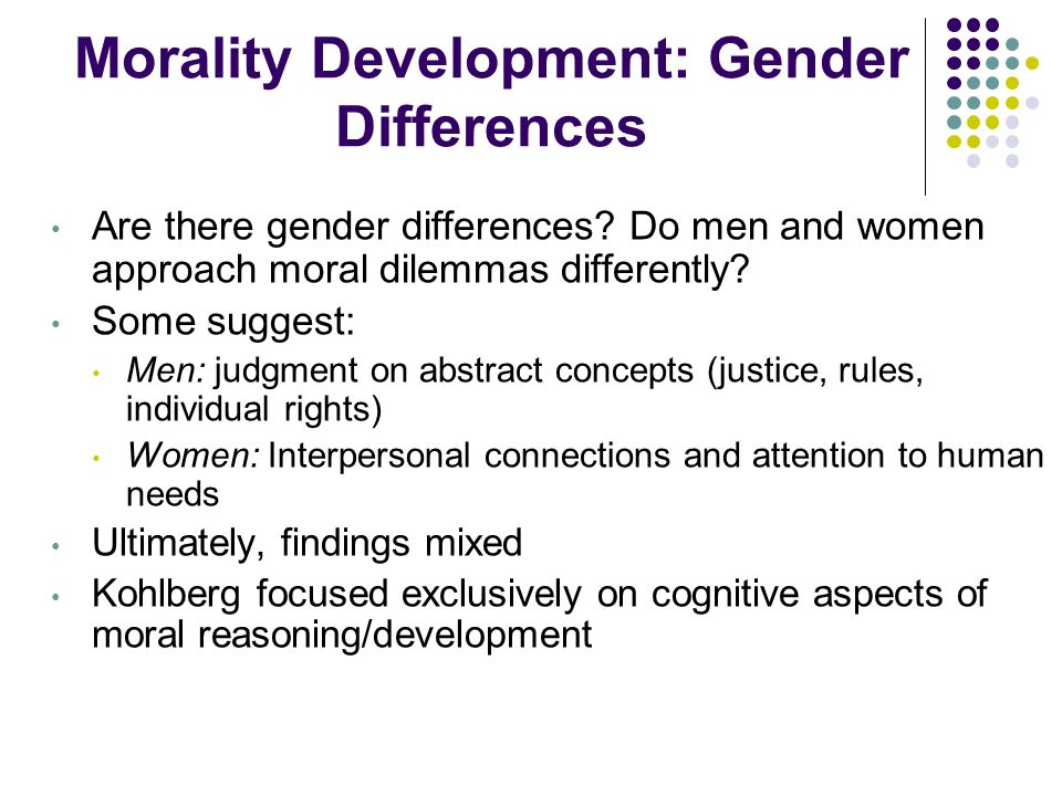 Morality Development: Gender Differences