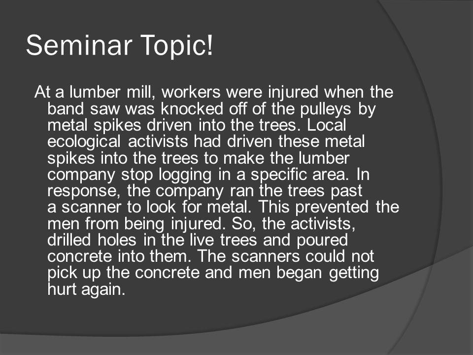 Seminar Topic!