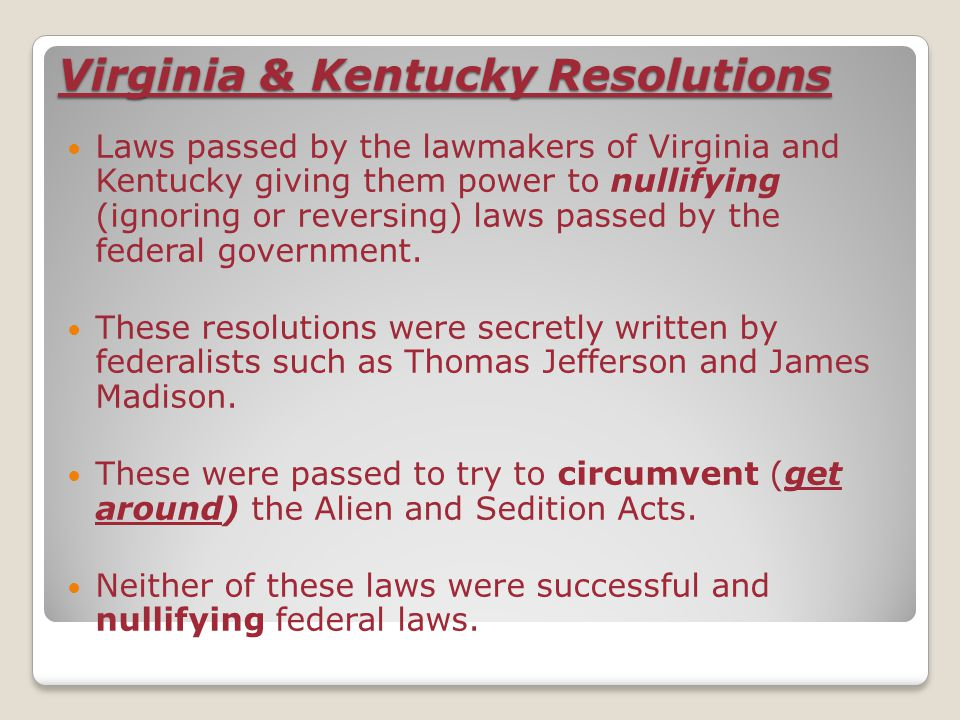 Virginia & Kentucky Resolutions