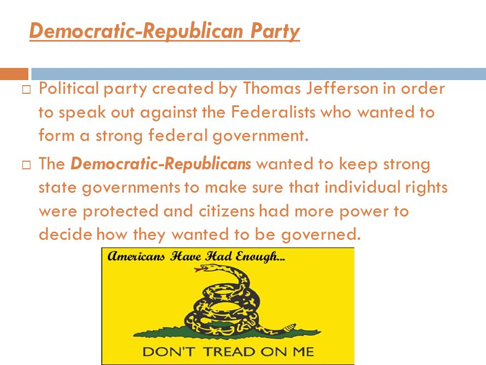 Democratic-Republican Party