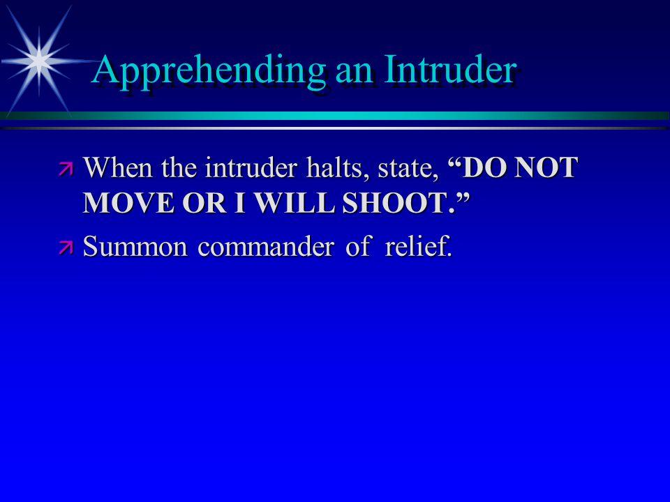 Apprehending an Intruder