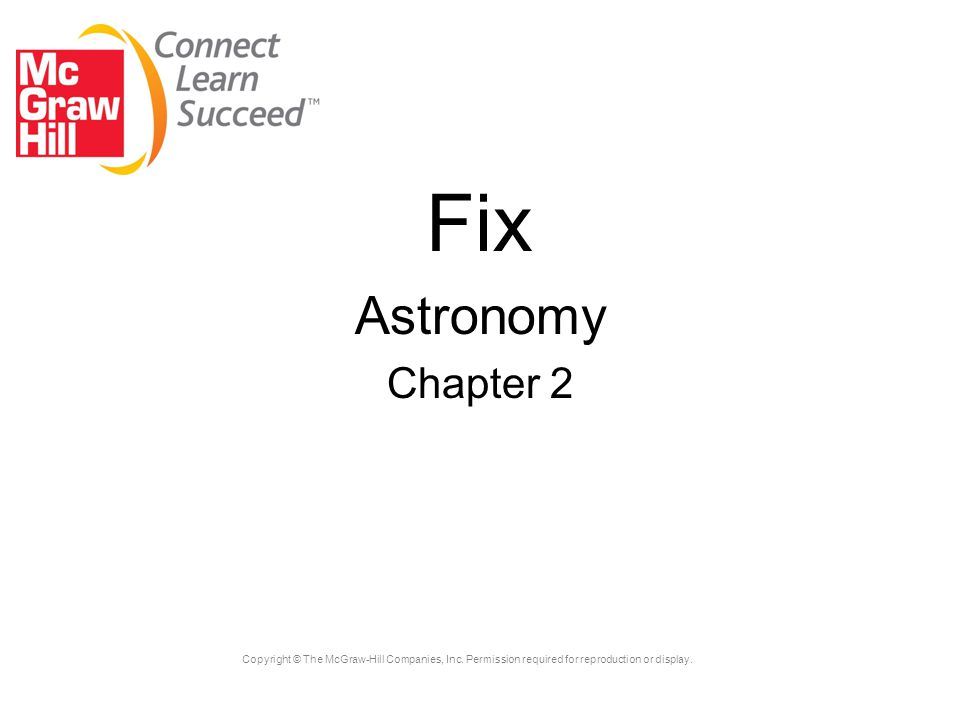 Fix Astronomy Chapter 2