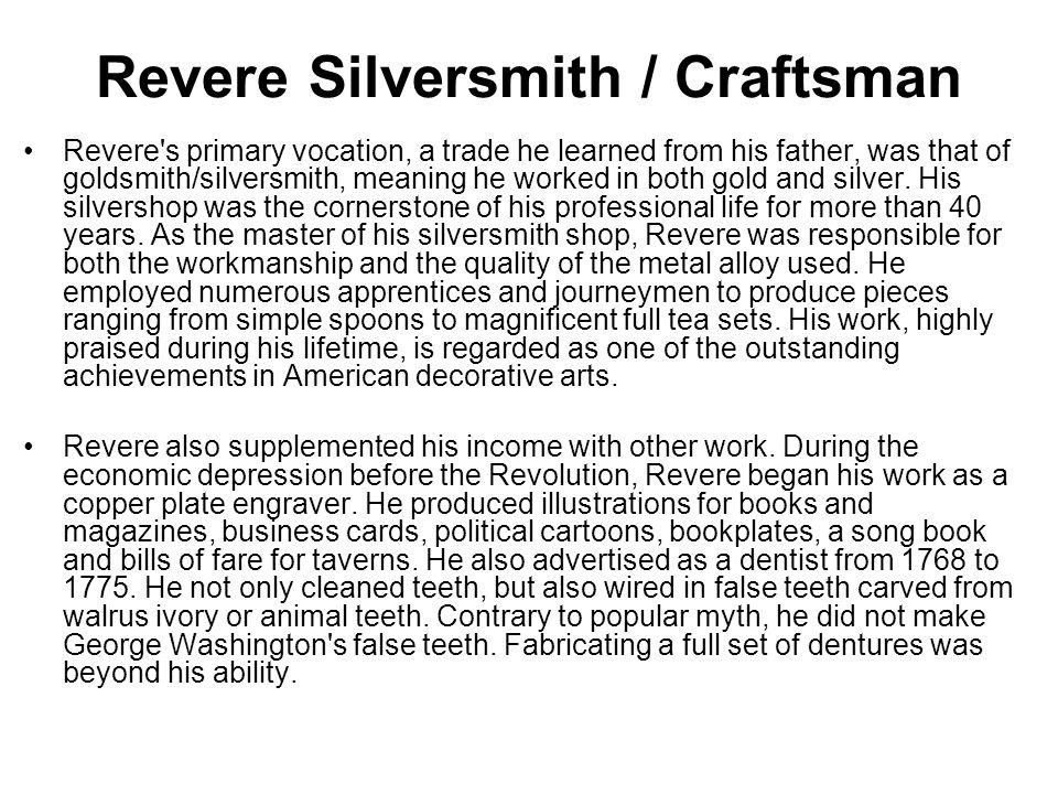 Revere Silversmith / Craftsman