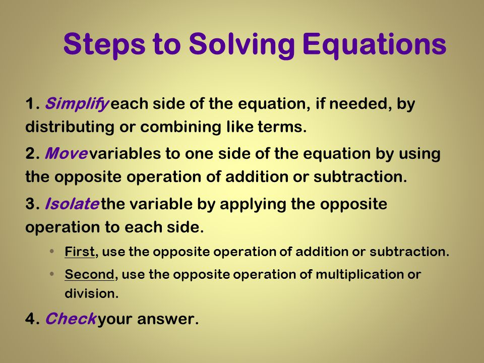 One Step Equations Solving Equations using Addition and – Solving Equations by Adding or Subtracting Worksheets
