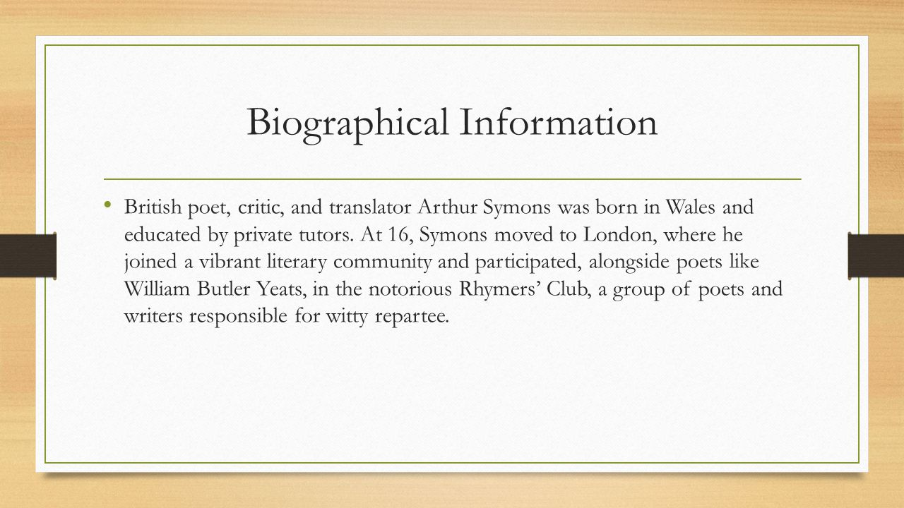 Biographical Information