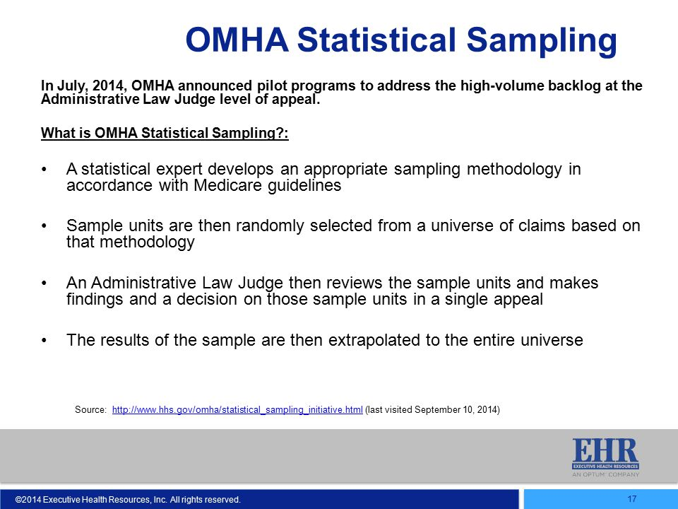 OMHA Statistical Sampling