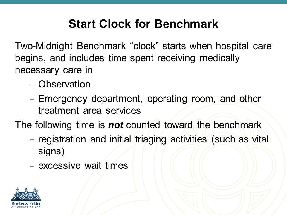 Start Clock for Benchmark
