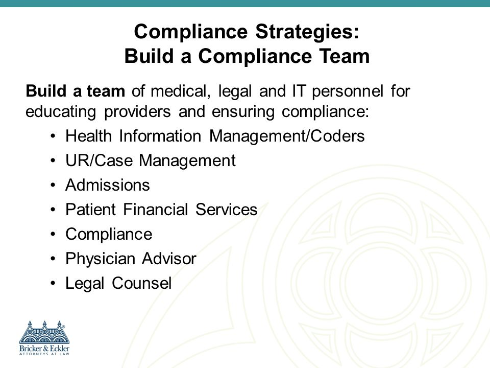 Compliance Strategies: Build a Compliance Team