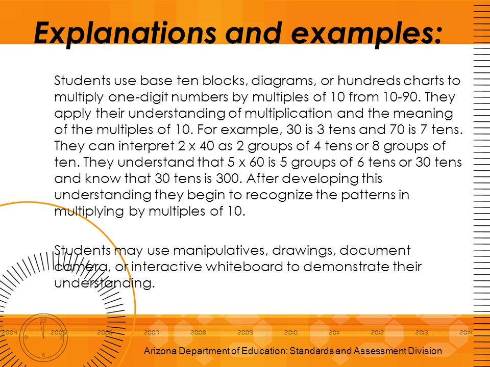 Explanations and examples: