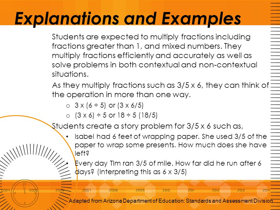 Explanations and Examples