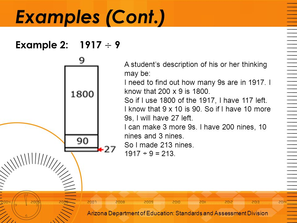 Examples (Cont.) Example 2: 1917 ÷ 9