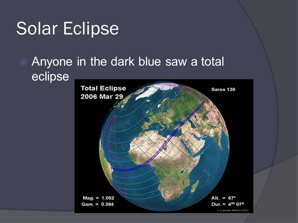 Solar Eclipse Anyone in the dark blue saw a total eclipse