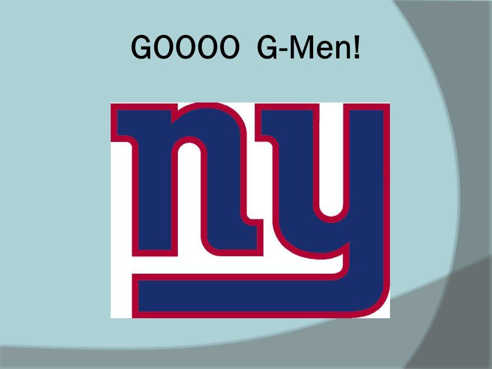 GOOOO G-Men!
