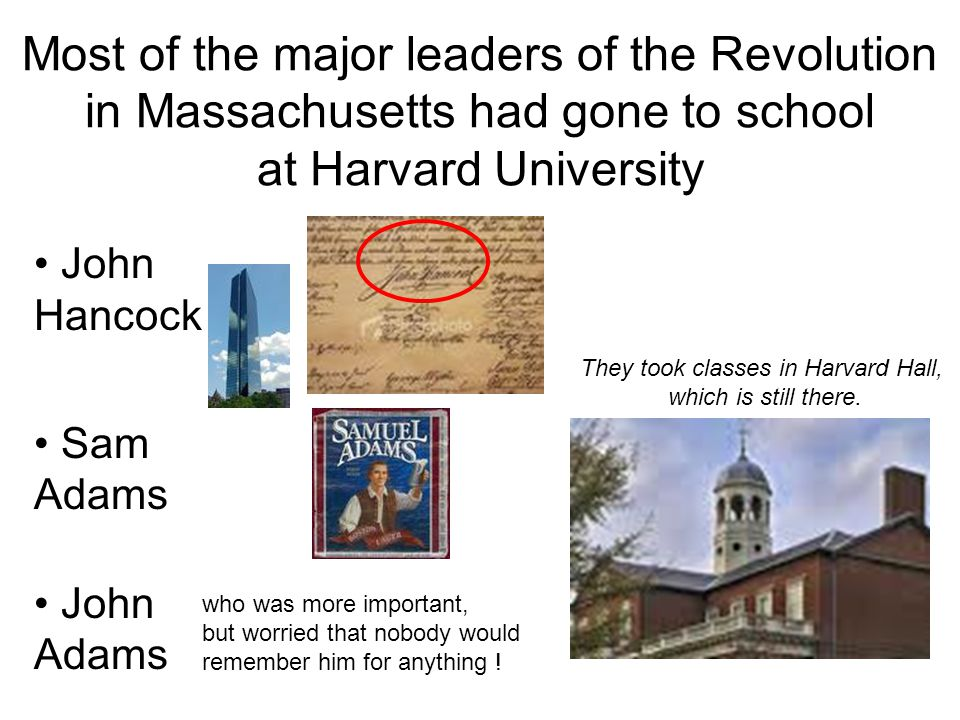 They took classes in Harvard Hall, which is still there.