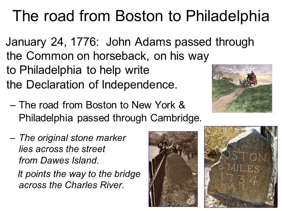 The road from Boston to Philadelphia