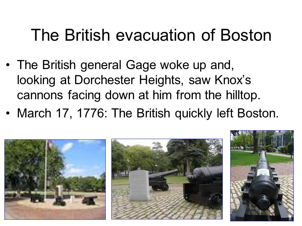 The British evacuation of Boston