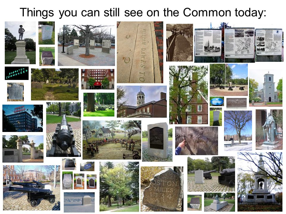 Things you can still see on the Common today: