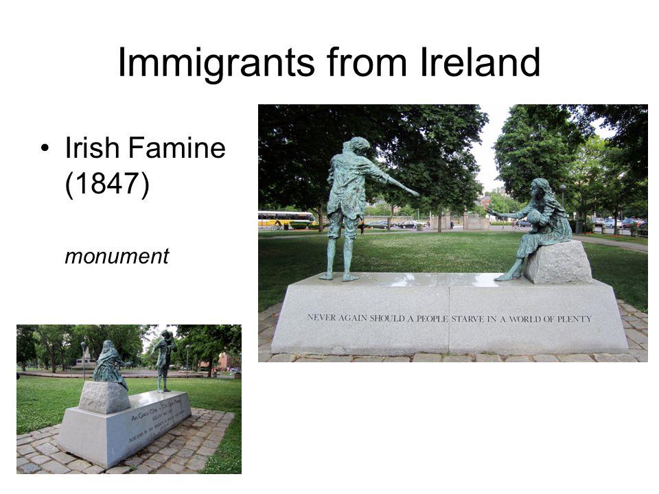 Immigrants from Ireland