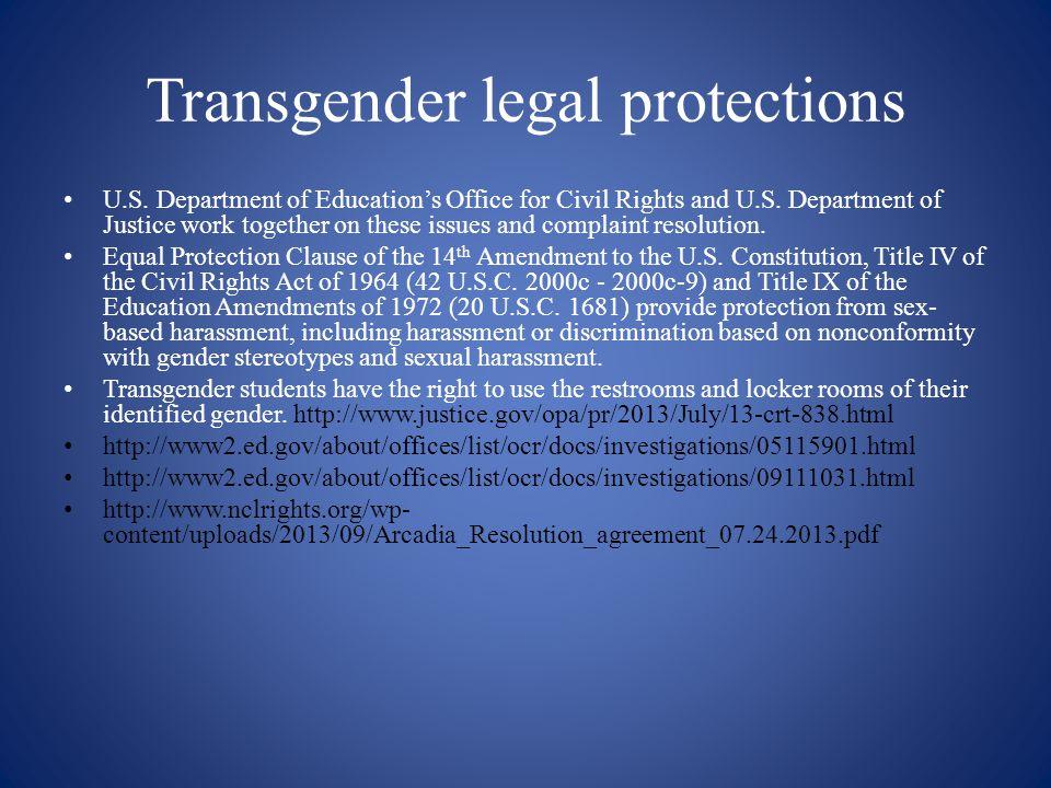 Transgender legal protections