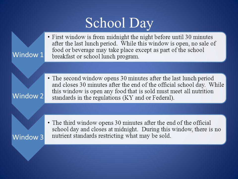 School Day Window 1 Window 2 Window 3
