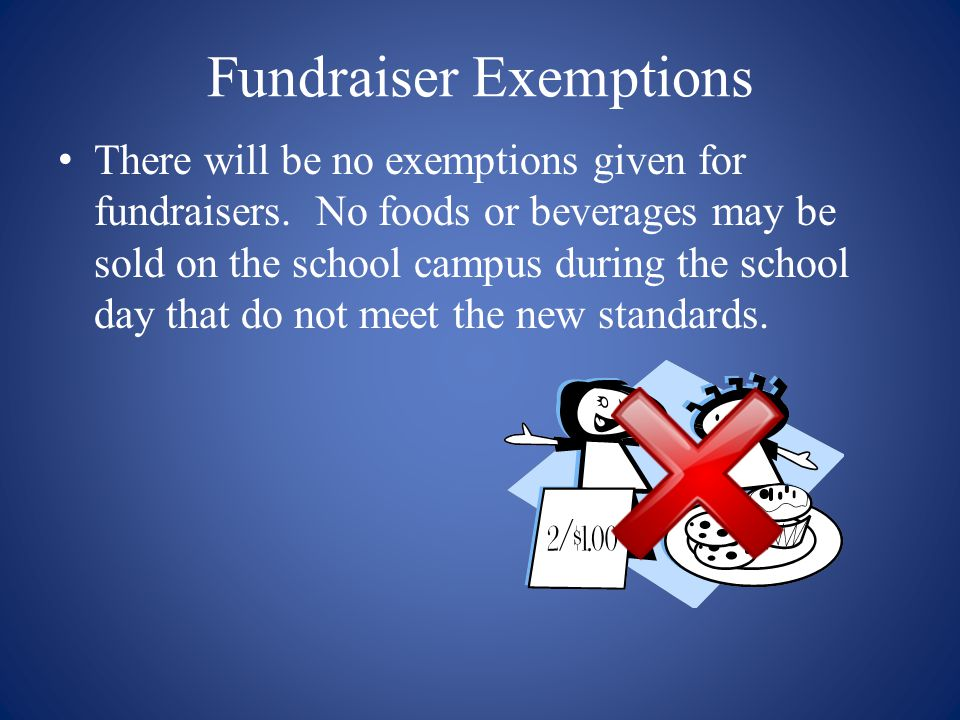 Fundraiser Exemptions