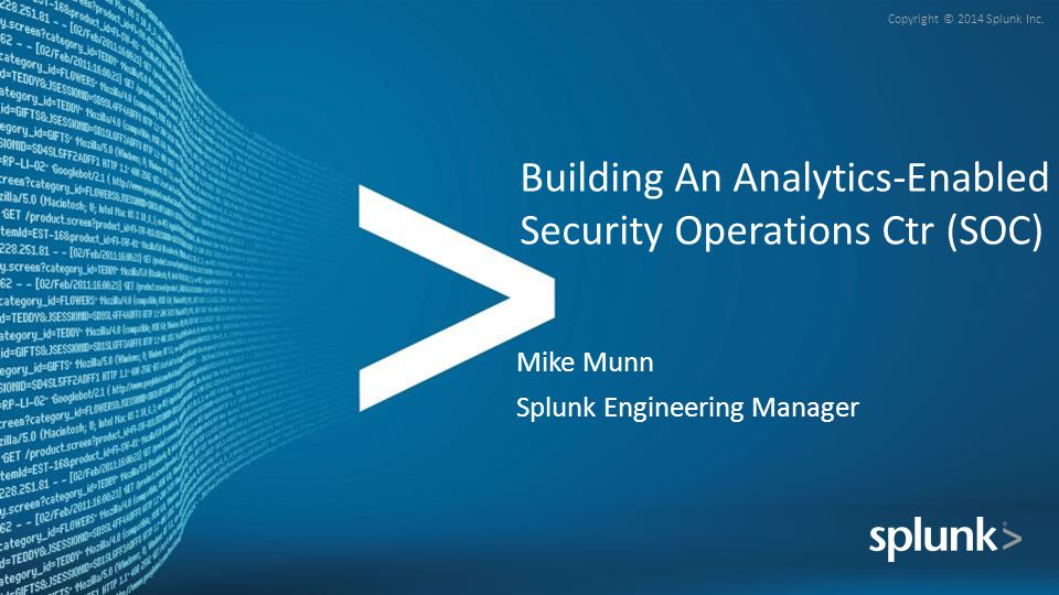 Building An Analytics-Enabled Security Operations Ctr (SOC)