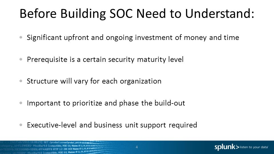 Before Building SOC Need to Understand: