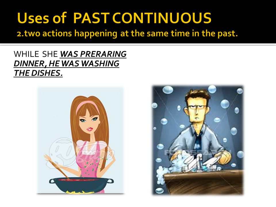 Uses of PAST CONTINUOUS 2