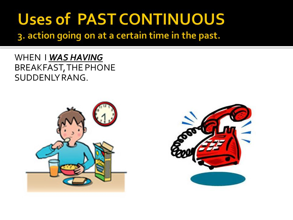 Uses of PAST CONTINUOUS 3
