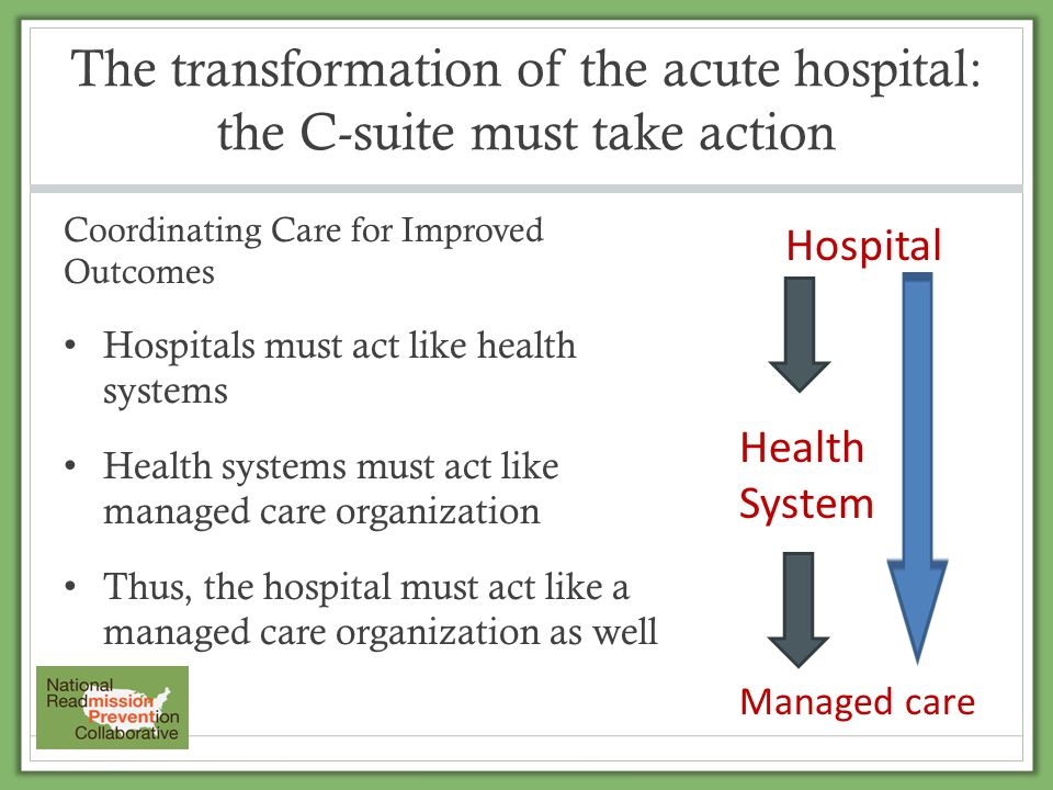 The transformation of the acute hospital: the C-suite must take action