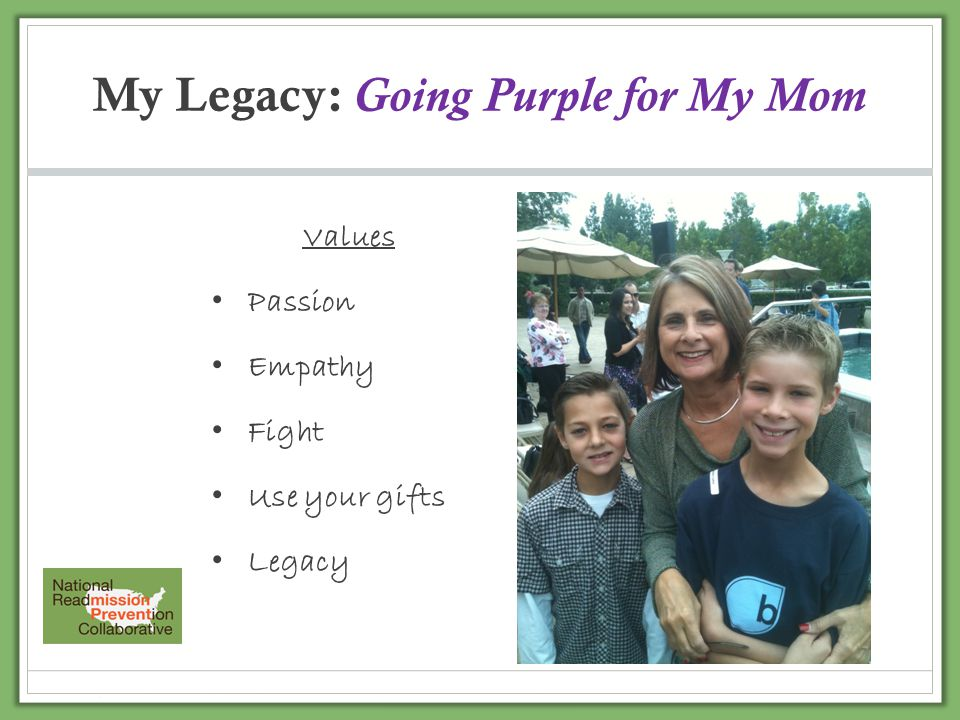 My Legacy: Going Purple for My Mom