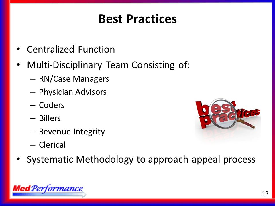 Best Practices Centralized Function