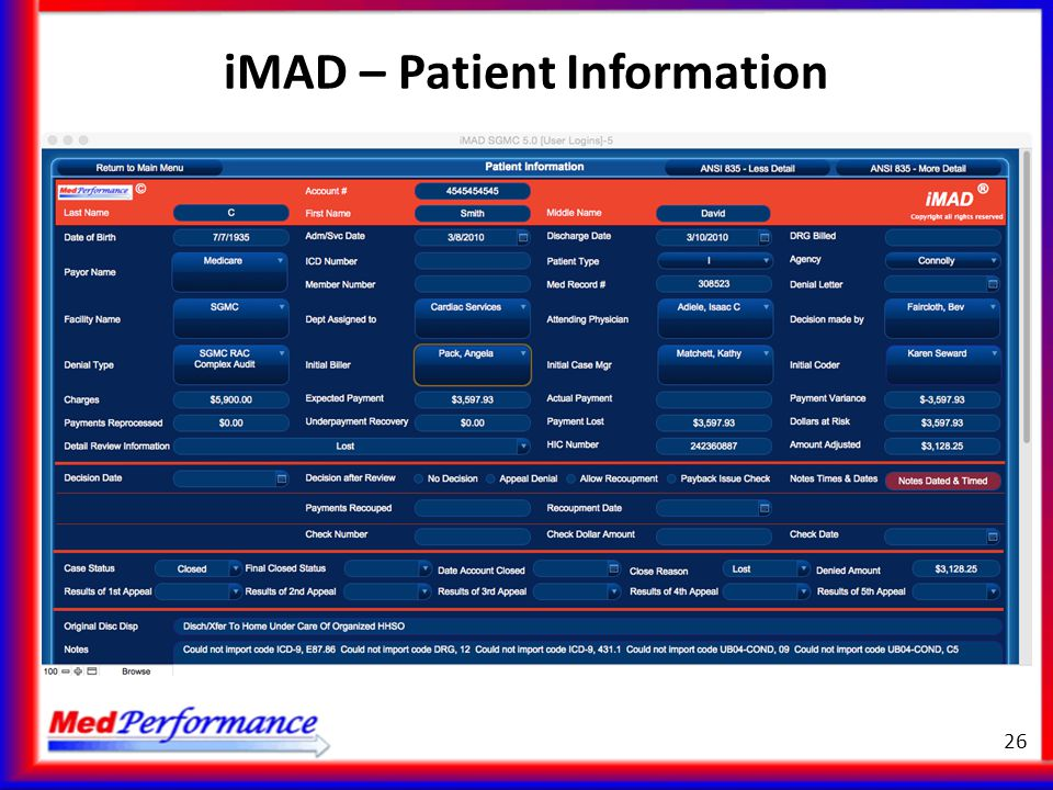 iMAD – Patient Information