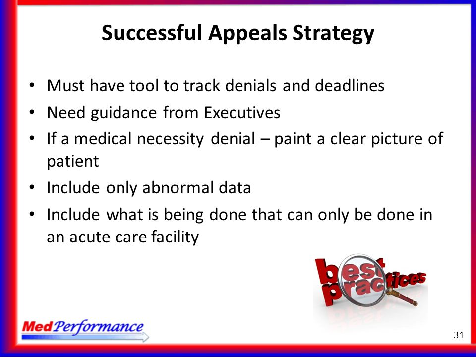 Successful Appeals Strategy