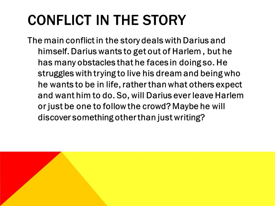 Conflict in the story