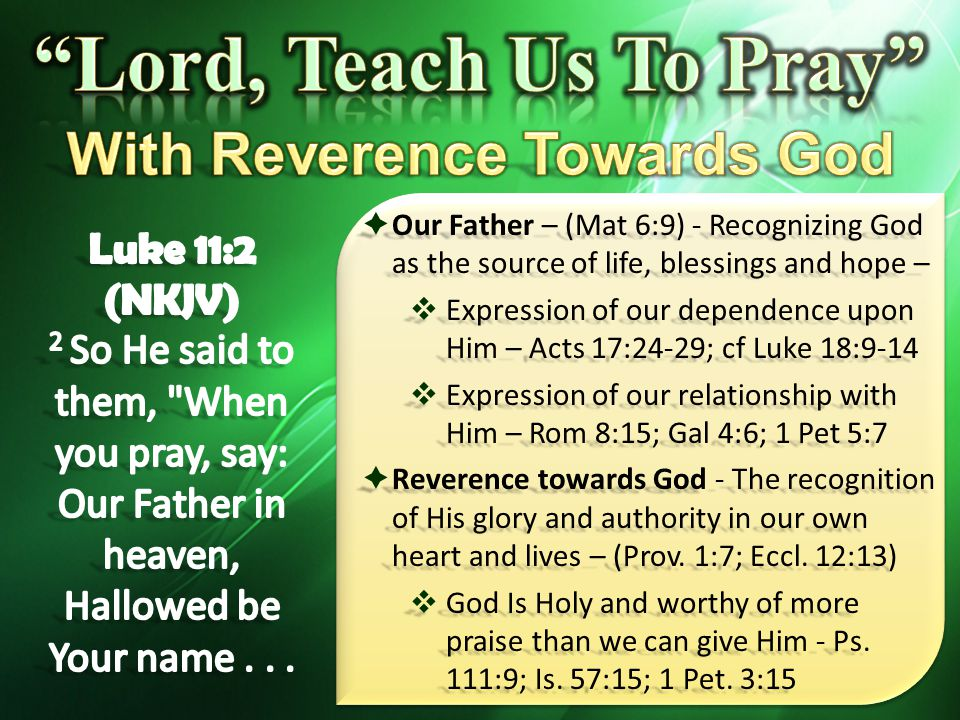 With Reverence Towards God