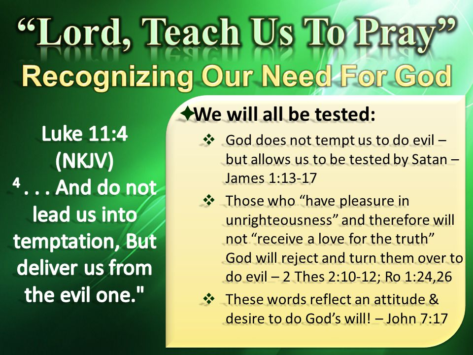 Recognizing Our Need For God