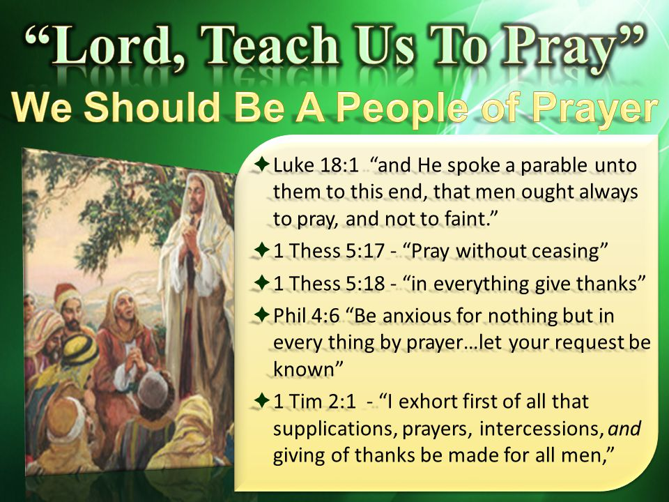 pastors shold teach people how to pray